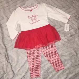 Baby girls NWT sz 9 months ❤️ Carter's vday 2piece